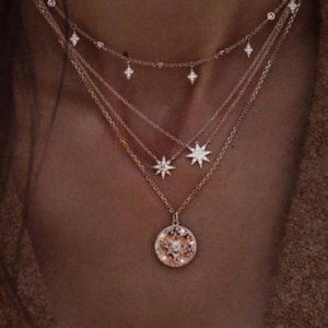Multiple Layers stars Necklace gypsy jewelry